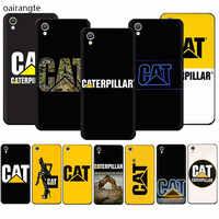 Caterpillar logotipo silicona suave funda de teléfono para OPPO A5 A7 A9 A37 A39 A57 A59 A73 A77 F1Plus F5 F7 F9 F11 R9S R15 R17 Pro