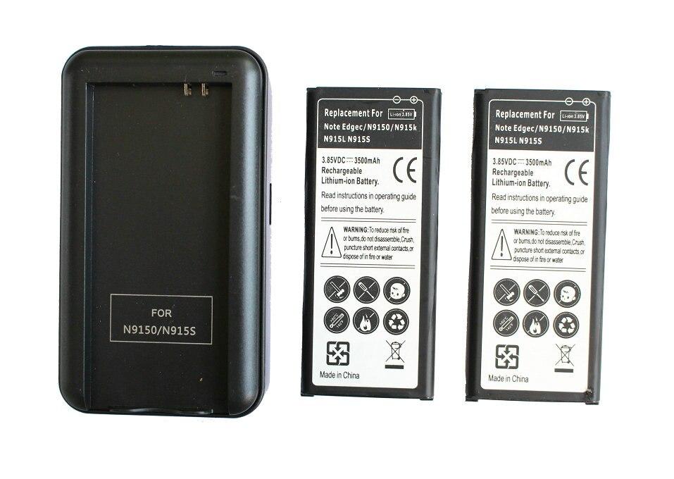2x 3500mAh EB-BN915BBC Replacement Li-ion Battery + USB Wall Charger For SamSung Galaxy Note Edge N9150 N915K N915L N915S