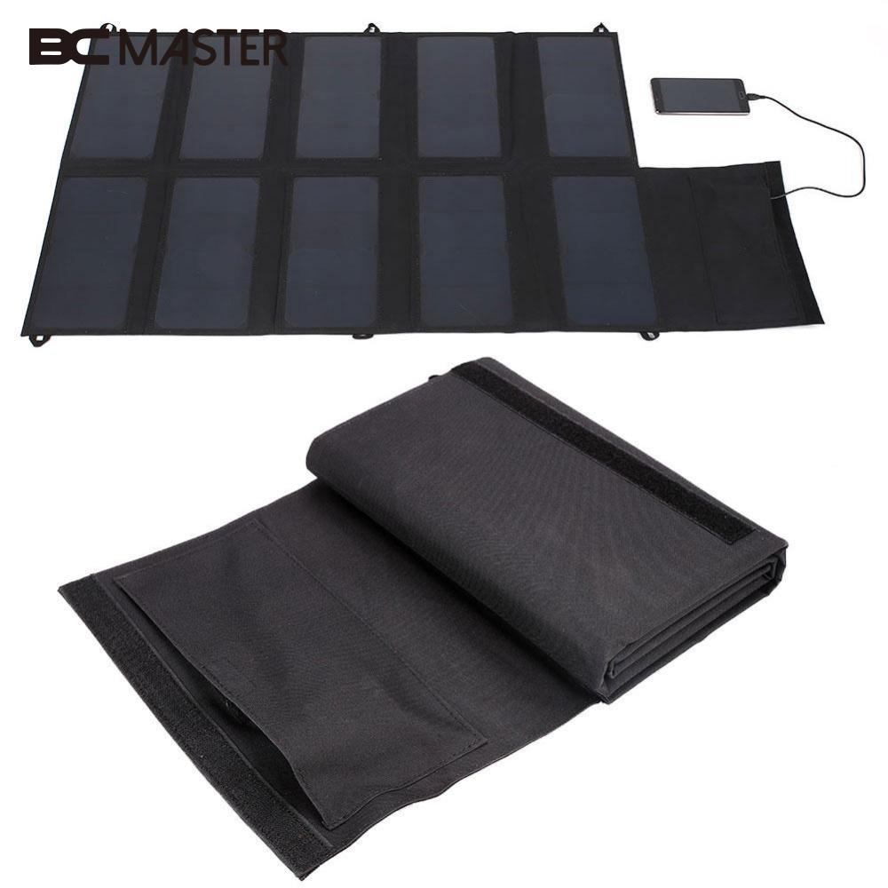 BCMaster 12V 5V DC Output Foldable Solar Panel Board Battery Charger For Outdoors  Sports Phones Charging