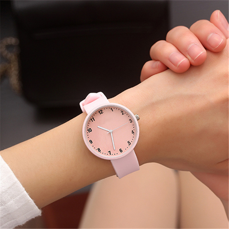 High Quality Ladies Watch Women Cute Cartoon Watches Silicone Rubber Jelly Gel Quartz Casual Student Girls Watch Clock