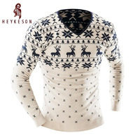2015 Men S Fashion Animal Print Sweater Men Leisure Slim Pull Homme O Neck Long Sleeved