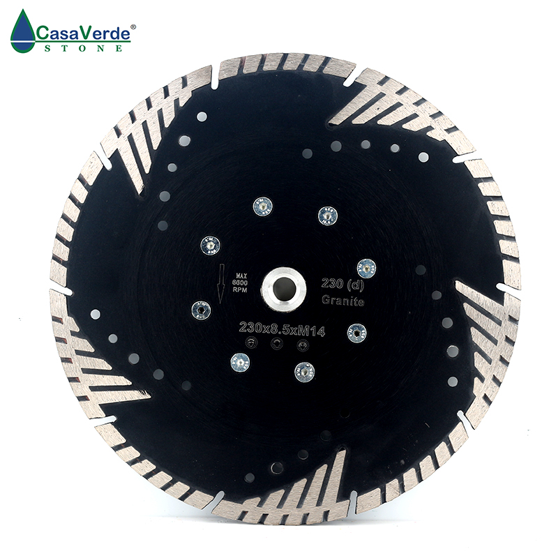 DC FSTB9 9 inch circular diamond grinding disc with M14 flange and cutting blade 230mm for