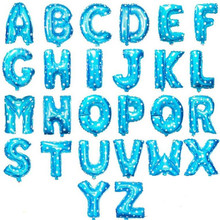 Free shipping 1pcs aluminum balloons font b Birthday b font letters 1pcs letter balloons Price blue