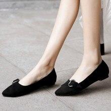Womens Casual Shoes Flat Boat Shoes Pointed Toe Plus Size Espadrilles Ballet Flats Ladies Shoes Women Shoes