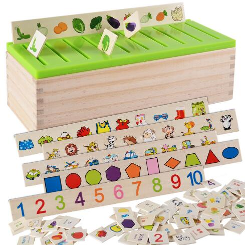 Wynlzq Kid Early Educational Toys Baby Wooden Puzzle Toy