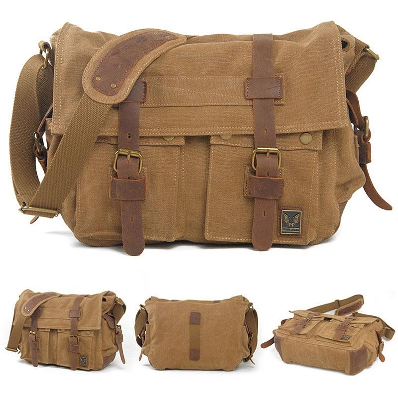 homens da lona homensageiro sacolas Capacidade : 14 17 Inch Laptop Ipad / Cell Phone / Wallet Cards / Daily Cosmetics