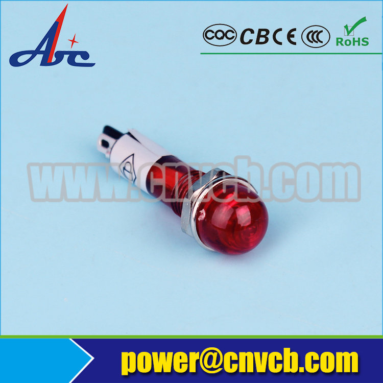 ZS29 Mounting diameter 10mm orange pilot light 24v pilot lamp