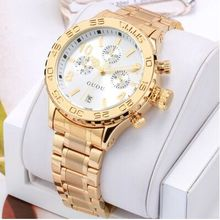 Calendario Marca de moda de Oro de Lujo de Calidad Superior Reloj de Hombre A Prueba de agua Señoras Regalo Exquisito Reloj de Cuarzo reloj Deportivo relojes