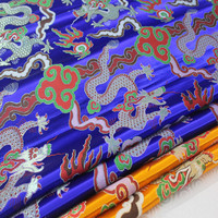 CF90 1Yard Chinese Style Cheongsam Dress Golden Dragon Robe Jacket Fabric For Men Stage Decorative fabric Antique Jacquard Cloth