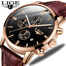 LIGE New Watch Men Fashion Sport Quartz Clock Mens Watches Brand Luxury Leather Business Waterproof Watch relojes para hombre цена в Москве и Питере