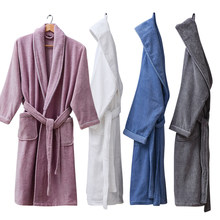 ea3f96d126 Winter Bathrobe Men With Hood Women Hooded Nightgown Home Clothes Warm Bath  Robes Dressing Gowns Wedding