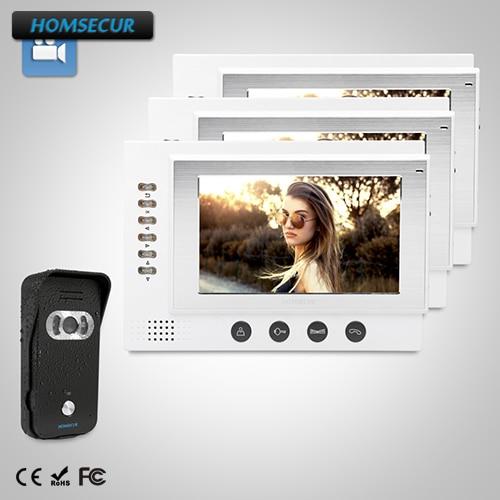 HOMSECUR 7 Video Door Entry Security Intercom+Dual-way Intercom for House/Flat:TC021-B C ...