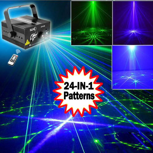 2016 NEW 3 Lens 24 Patterns GB Mini Laser Light Show Blue LED Stage Lighting Effect Home Party DJ Disco Light With Remote professional 3 lens 36 patterns stage lights rg blue led stage laser lighting dj party disco light effect projector lighting