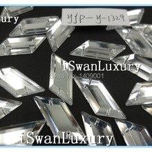 Топ-номинальный продавец 13x29 мм призматический серебряный цвет зеркальные отдельные бусины, стразы Поделочные камни пришить для швейные Стразы Flatback Diy