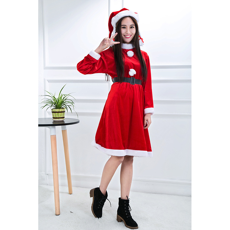 35129ce9193625 Volwassen vrouwelijke volwassen kerst kleding flanel dames pak dress  groothandel missy santa kostuum voor plus size van kerst in Volwassen  vrouwelijke ...