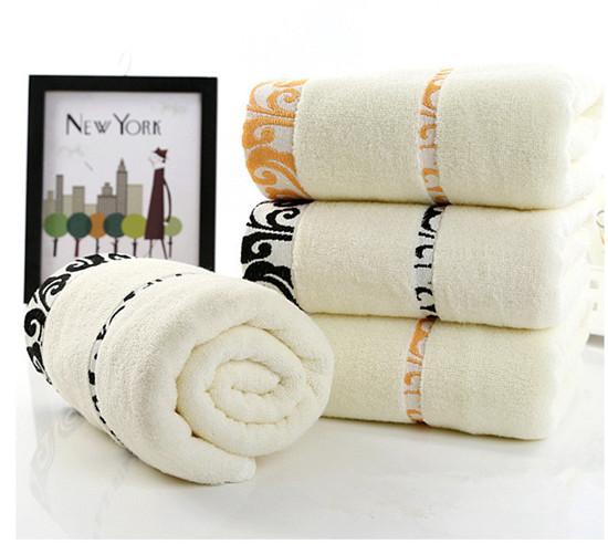 70140 cm di alta qualit del cotone asciugamani da bagno per adulti jacquard decorativo