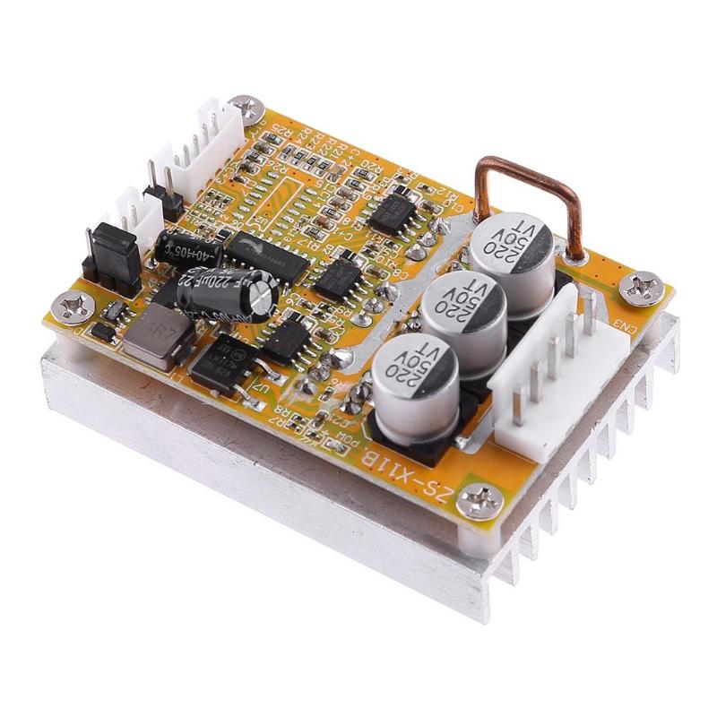 Three-Phase DC Brushless 5-36V 350W without Hall Motor Controller Sensorless Brushless Motor Driver three by hall caine