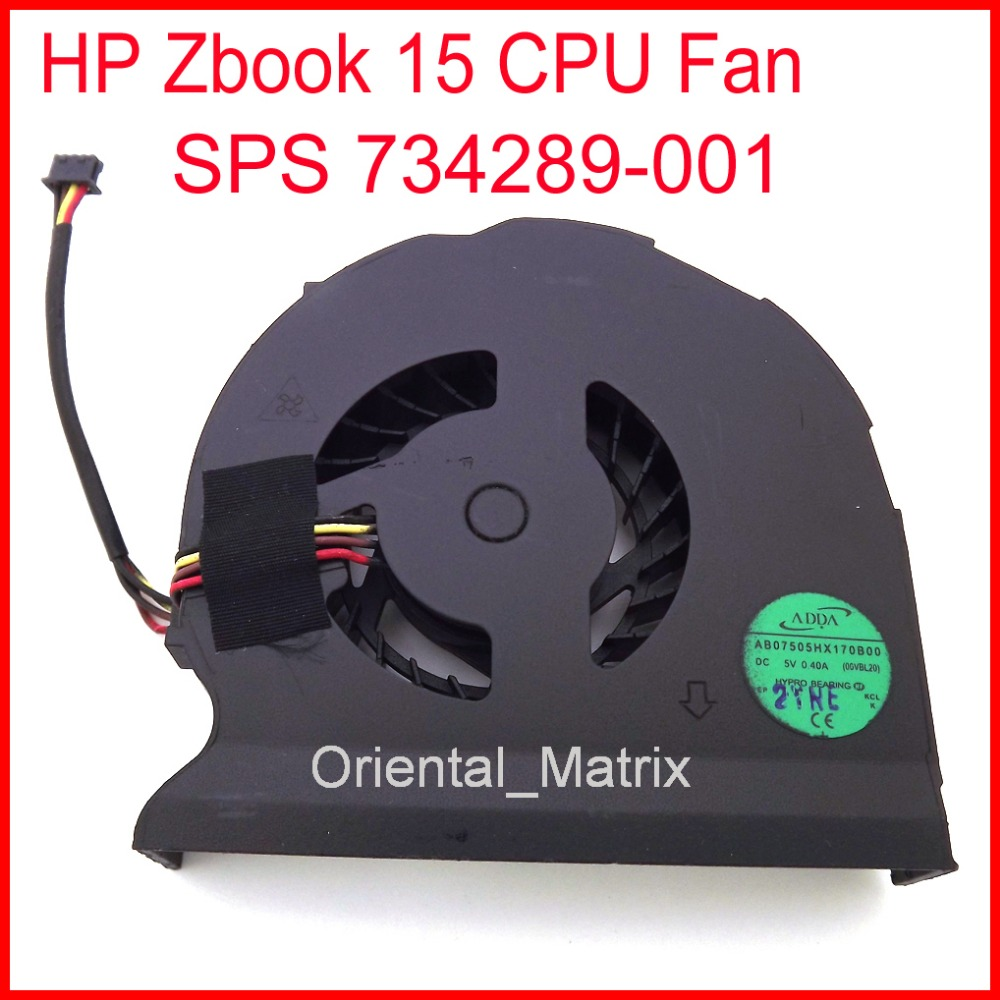 Free Shipping Brand NEW AB07505HX170B00 DC5V 0.40A For HP Zbook 15 CPU SPS 734289-001 CPU Cooler Cooling Fan 5piece 100% new max9668e 9668e qfn chipset