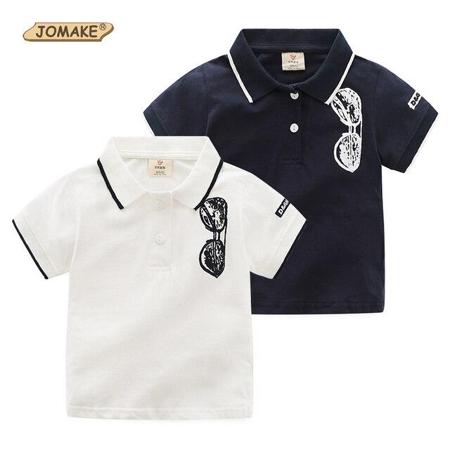 26450e872 Boys T-shirt Sunglasses Printed Lapel Collar Kids Polo Shirts Fashion Boys  Clothes Baby Boy Tee Shirt Garcon Children Clothing