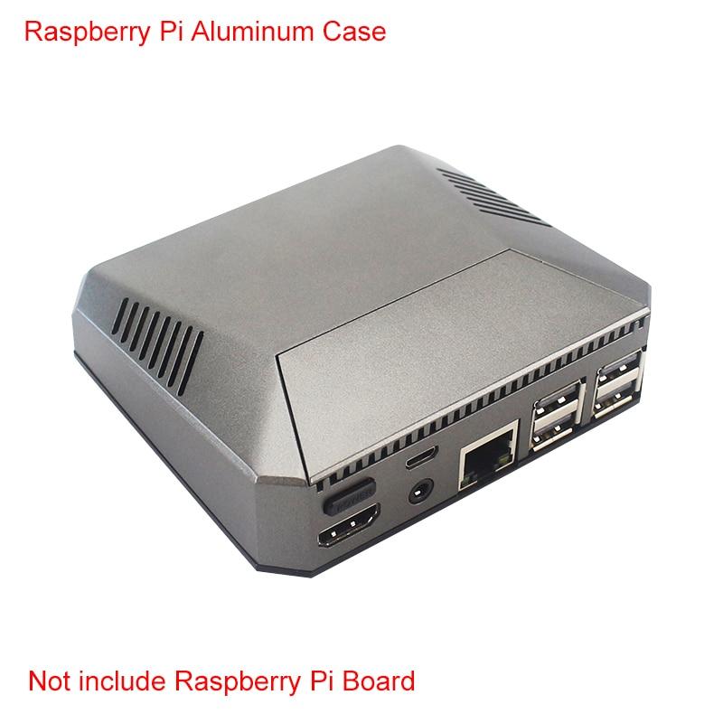 Latest Raspberry Pi 3 Model B+ Case Aluminum Box Metal Enclosure + Cooling Fan + Heat Sinks for Raspberry Pi 3 B/B+Latest Raspberry Pi 3 Model B+ Case Aluminum Box Metal Enclosure + Cooling Fan + Heat Sinks for Raspberry Pi 3 B/B+