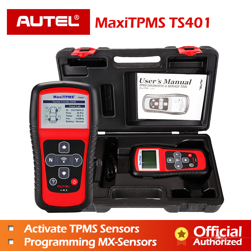 Autel MaxiTPMS TS401 TPMS Car Diagnostic and Service Tool Pre-selection process offer faster activation and diagnostics Autel MaxiTPMS TS401 TPMS Car Diagnostic and Service Tool Pre-selection process offer faster activation and diagnostics