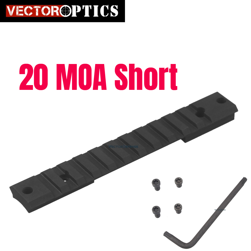 Vector Optics Remington 700 Steel 20 MOA Picatinny Rail Mount Short Action Tactical Fit Ruger 10/22 Browning X Bolt Receiver|Scope Mounts & Accessories| |  - title=