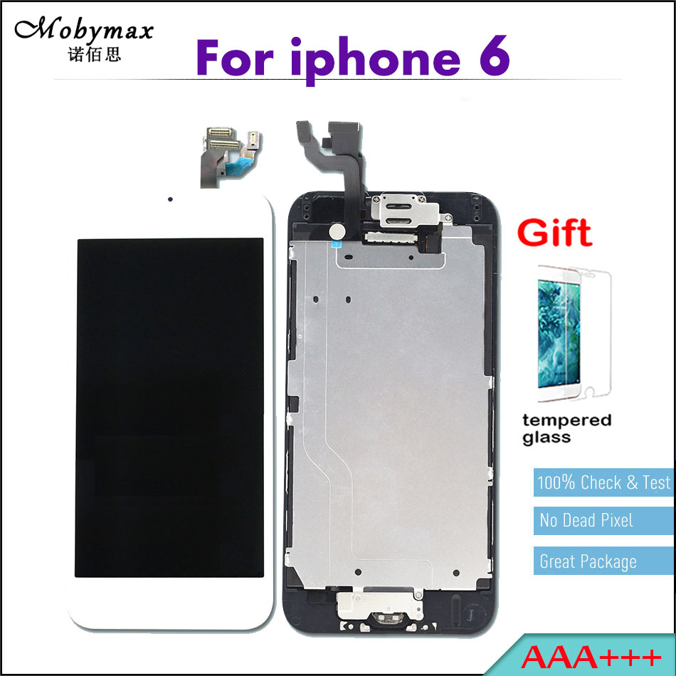 Mobymax 4.7 Pantalla for iPhone 6 A1549 A1586 Ecran LCD Full Assembly Touch Screen Digitizer Display+Home Button+Front Camera ...