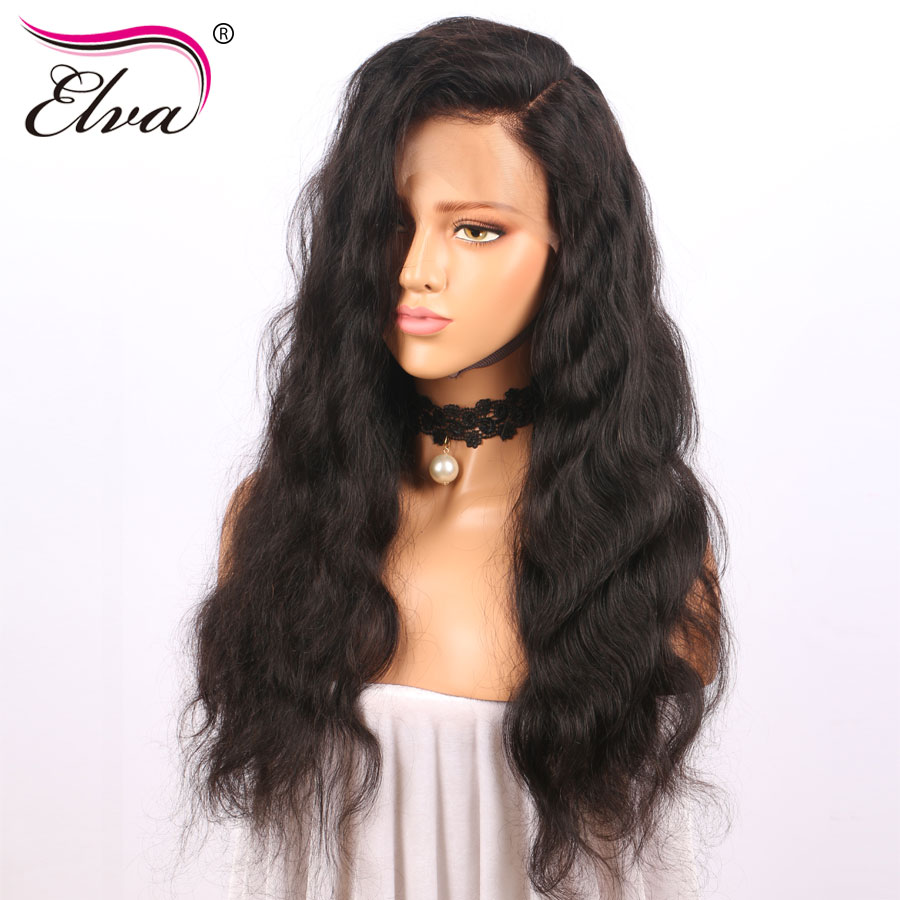 Elva Hair Full Lace Human Hair Wigs For Black Women Pre Plucked Natural Hairline 10-26inches Brazilian Body Wave Remy Hair Wigs