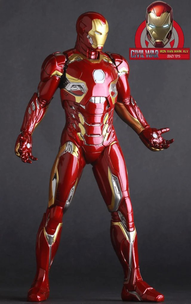 2018 New arrive Marvel Action Figure Iron Man Mark XLV MK45 1/6 scale painted PVC Action Figure Collectible Model Toy 12 30cm star wars taiko yaku stormtrooper 1 8 scale painted variant stormtrooper pvc action figure collectible model toy 17cm kt3256