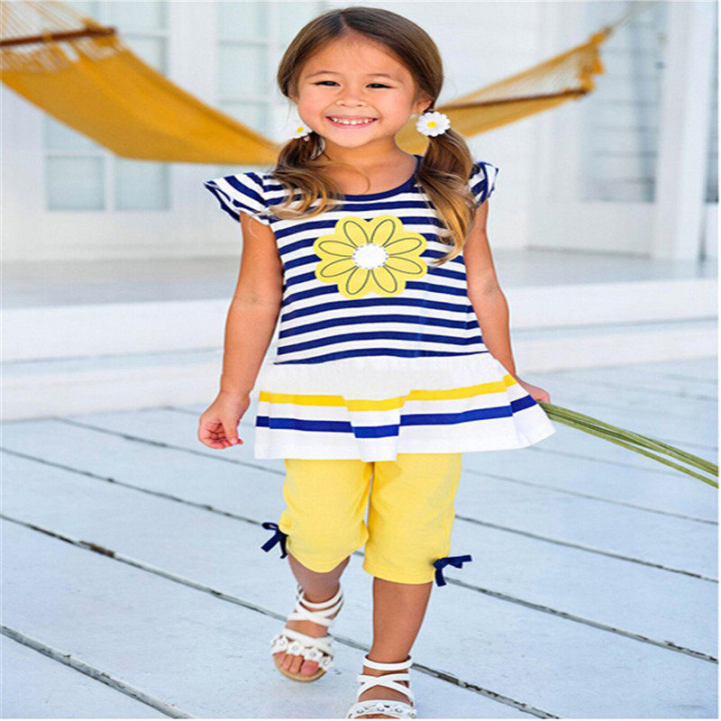 2016 clothes summer dress sets baby clothes