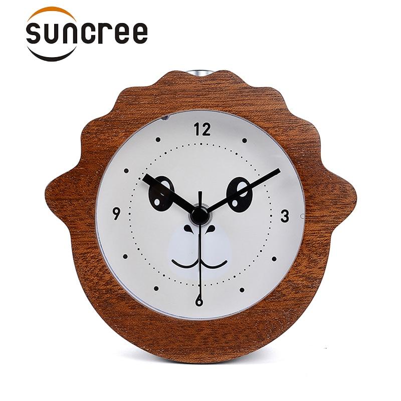 Suncree Chinese Zodiac series Goat elegant alarm clock No Ticking Snooze Back light Digital Clock, Desktop Table Clocks