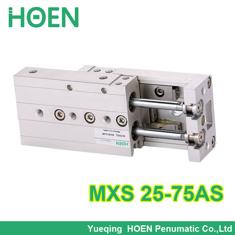 цена на MXS25-75 MXS series Cylinder MXS25-75AS Air Slide Table Double Acting 25mm bore 75mm stroke Accept custom MXS25-75AT