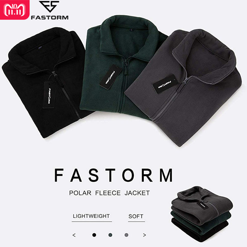 FASTORM Winter Jacket Men Military Fleece Thermal Outerwear Pockets Zipper Jackets Windproof Solid Polar Thick Coat new autumn winter thick fleece hoodies men brand afs jeep thermal warm sweatshirts cotton padded fashion outerwear men
