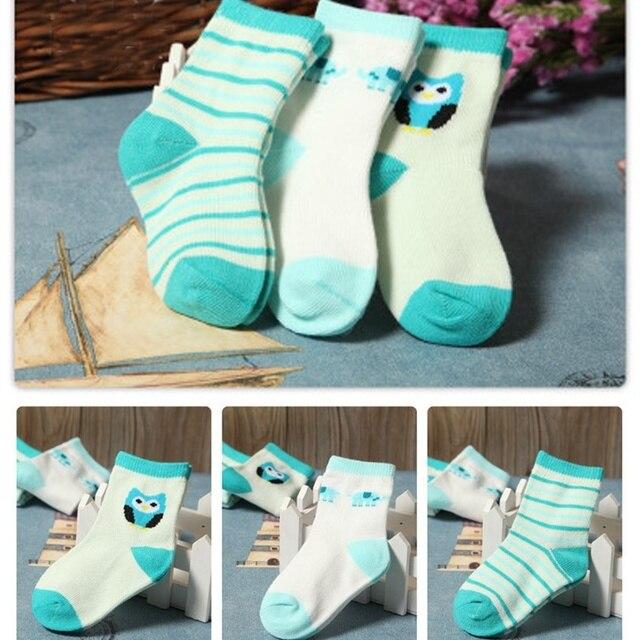 3 Pairs Set Brand New Socks Newborn Baby Socks Baby Cotton Short