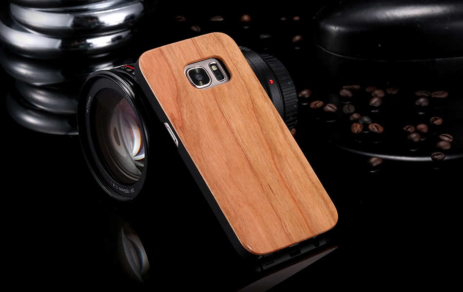 For Samsung Galaxy S8 Plus Real Wooden Case For Samsung S8 Galaxy S7 S6 Edge Back Cover (9)
