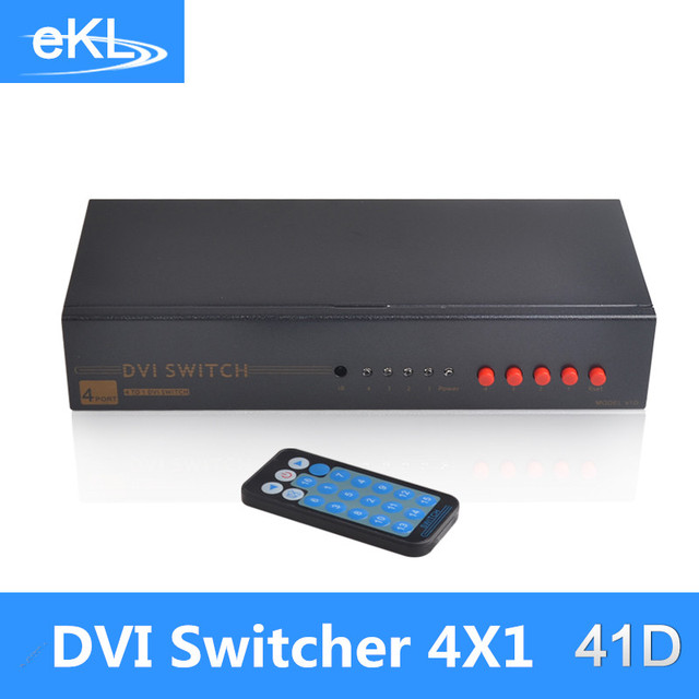 EKL 4 x1 DVI Switch Box for HDTV TV LCD Monitor support 1920*1080