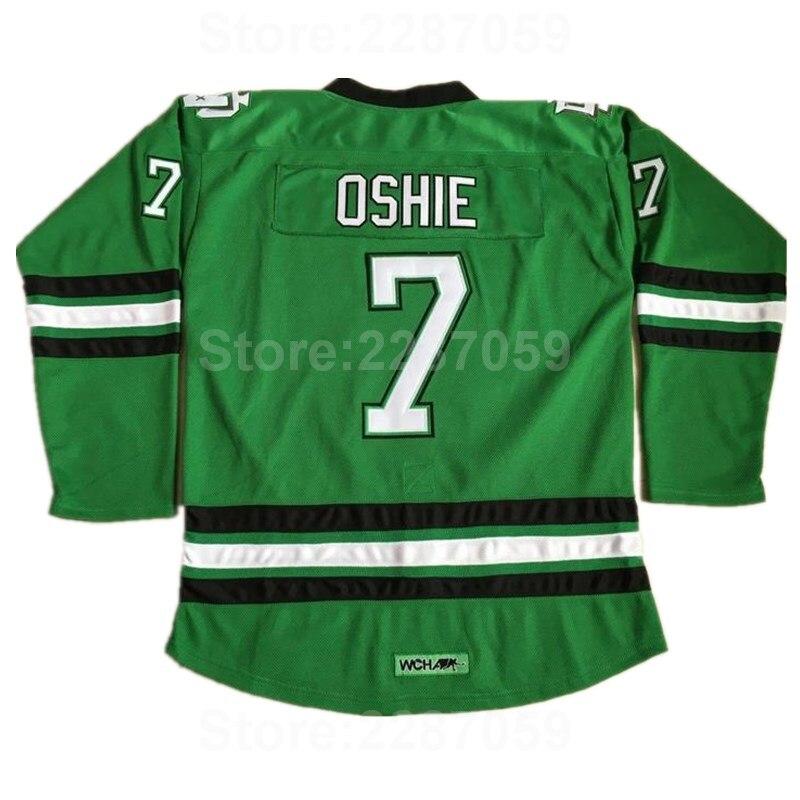 Ediwallen Ice Hockey 7 TJ Oshie College Jerseys North Dakota Fighting Sioux  For Sport Fans Stitched f44b04338