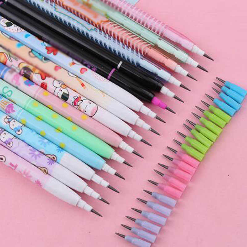20 Pcs/lot HB Writing Pencil Cartoon Painting Pencil  for School Stationery Office Supplies Student Mechanical Pencil Gift