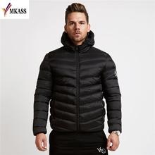 2018 New Fashion Men s Winter Warm Jacket Hooded Slim Casual Coat Cotton padded Jacket Parka