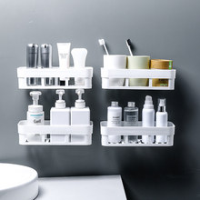 Bathroom Storage Shelf & Rack Waterproof Floating Home Decoration Kitchen Accessories Free Punching Wall Hanging