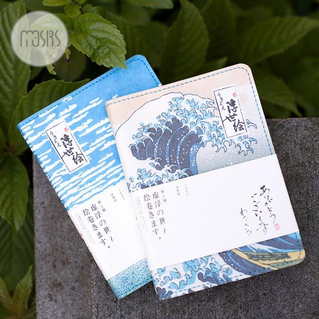 Красивый Японский стиль Поплавок мир обратить ноутбук журнал дневник планировщик книги рукой блокнот для детей kawaii канцелярские
