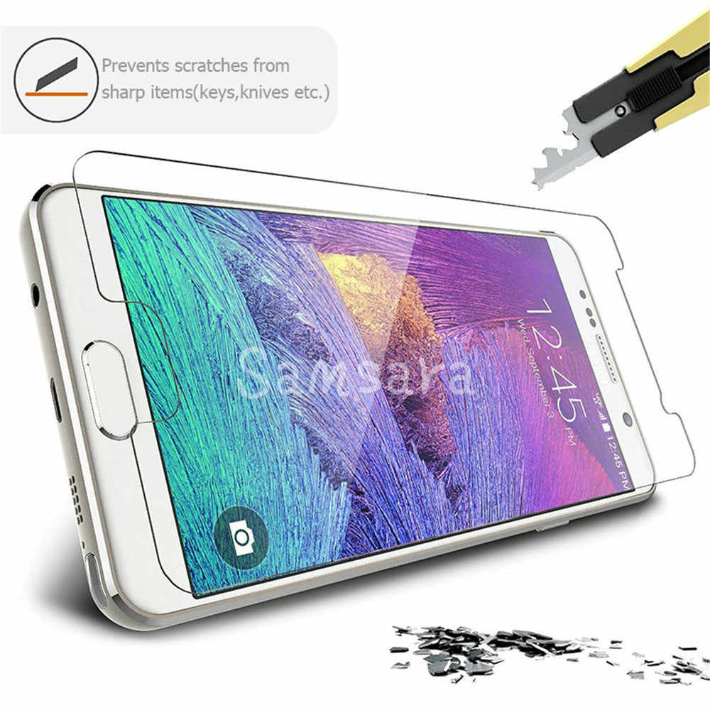 2Pcs 2.5D Tempered Glass For Samsung Galaxy J3 J5 J7 A3 A5 A7 2016 2017 High Transparent Screen Protector Protective Glass Film