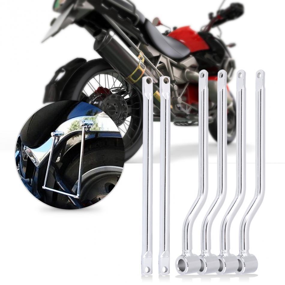 Motorcycle Saddlebag Support Bars Brackets Kit for Harley Honda Suzuki Yamaha Kawasaki Silver 2018 12 5cm motorcycle saddle bag support bar mount brackets for honda magna vf250 vf750 vf