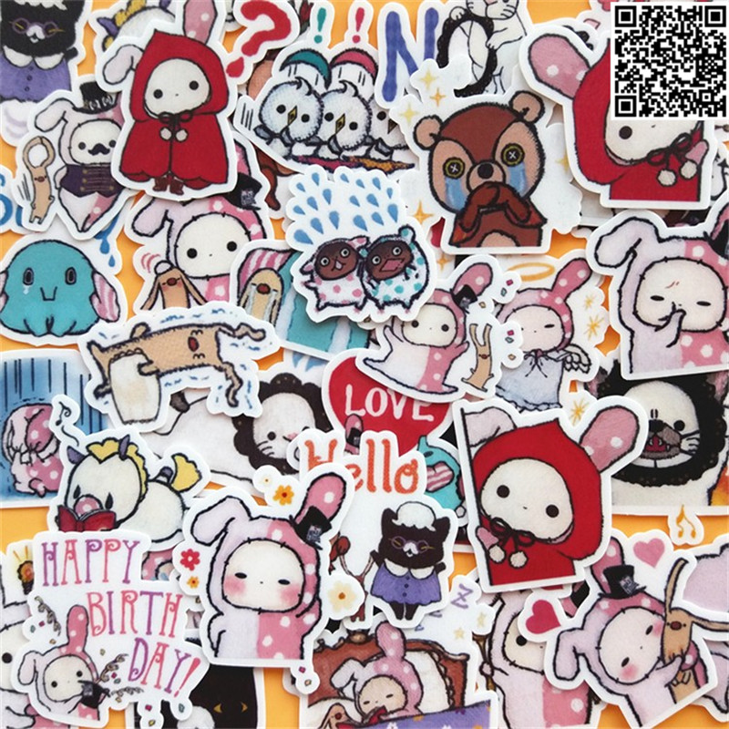 40Pcs Sad Circus Show Expression  Paper Sticker For Luggage Skateboard Phone Laptop Moto Bicycle/Eason Stickers/DIY Scrapbooking