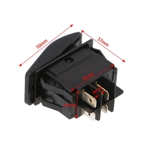 Car Marine Boat 4PIN Rocker Toggle 12V/20A Switch Red Roof LED Light Bar ON OFF