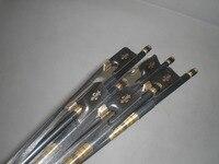 5 PCs Preto Fibra De Carbono Cello Bow 4/4 Ebony Sapo arco de cabelo Preto