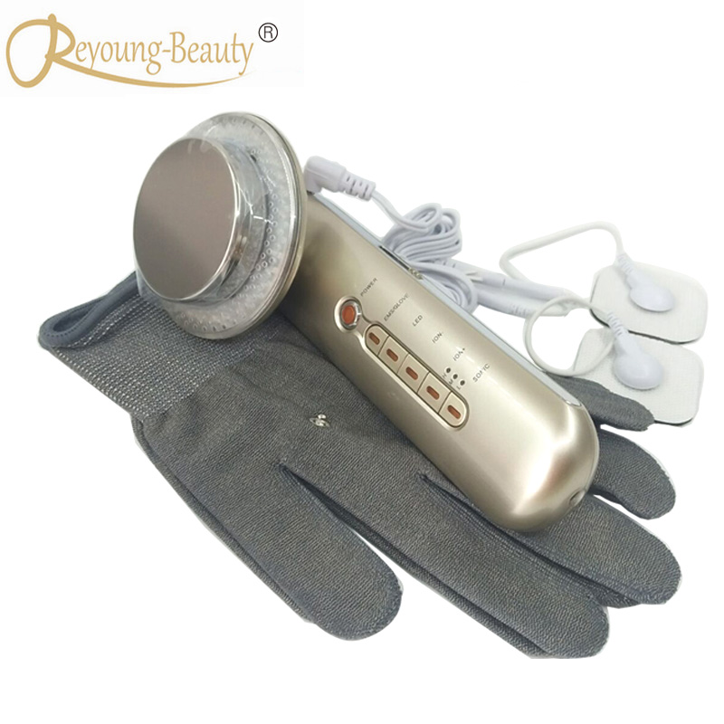 Galvanic Spa Ultrasonic Photon EMS Therapy Stretch Mark Wrinkle Cellulite Remover Body Contouring Slimming Massager Machine