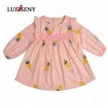 LUEISENY Summer 2019 Baby Dress Newborn Infant Dresses Cotton Pineapple Sleeveless Toddler Kids Clothes