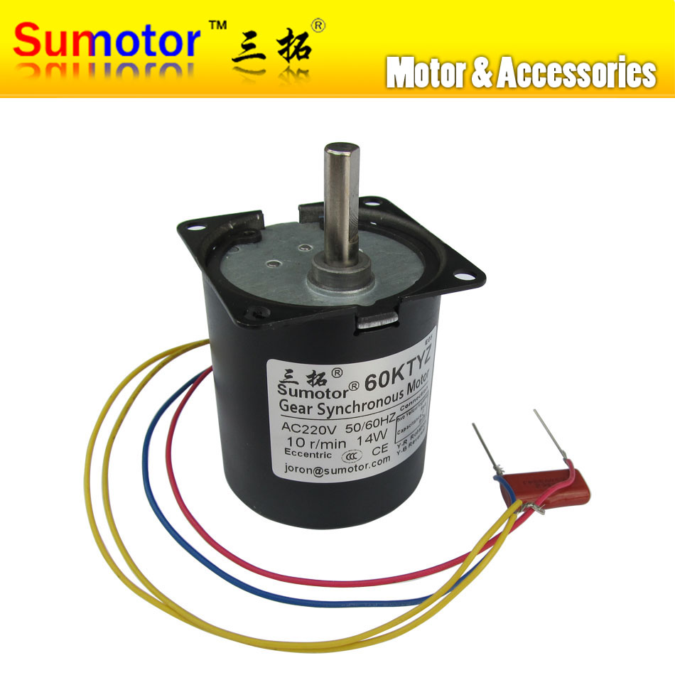Buy 60ktyz 10rpm eccentric 14w 220 240v for Ac synchronous motor manufacturers