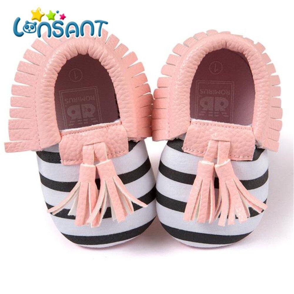 LONSANT Новые 2018 Детские Обувь для девочек все сезоны детские кроватки Ленточки обувь с бантами малыша кроссовки повседневная обувь